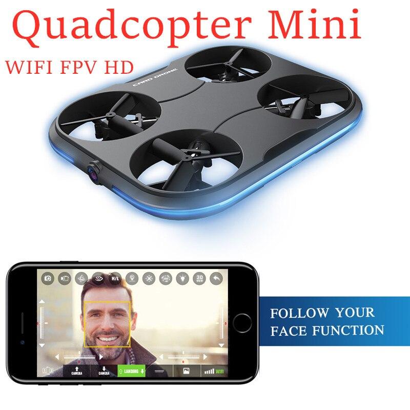 Nouveau quadrirotor Mini Drone RC jouet carte K150 1280x720 p WIFI FPV HD caméra flux optique RC quadrirotor Mini Drone jouets pour enfant