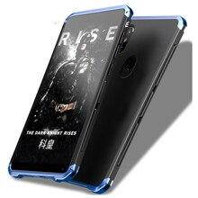 Küresel zırh kılıfları Xiaomi Redmi için not 8 Pro kılıf sert TPU Metal çerçeve buzlu kapak Xiaomi redmi için not 7 6Pro Mi9 Mi8 kılıfı