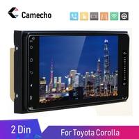 Camecho Android 8.1 Car Multimedia Player 2 Din 7'' Autoradio GPS Autoradio Bluetooth Audio Stereo FM AUX USB For Toyota Corolla