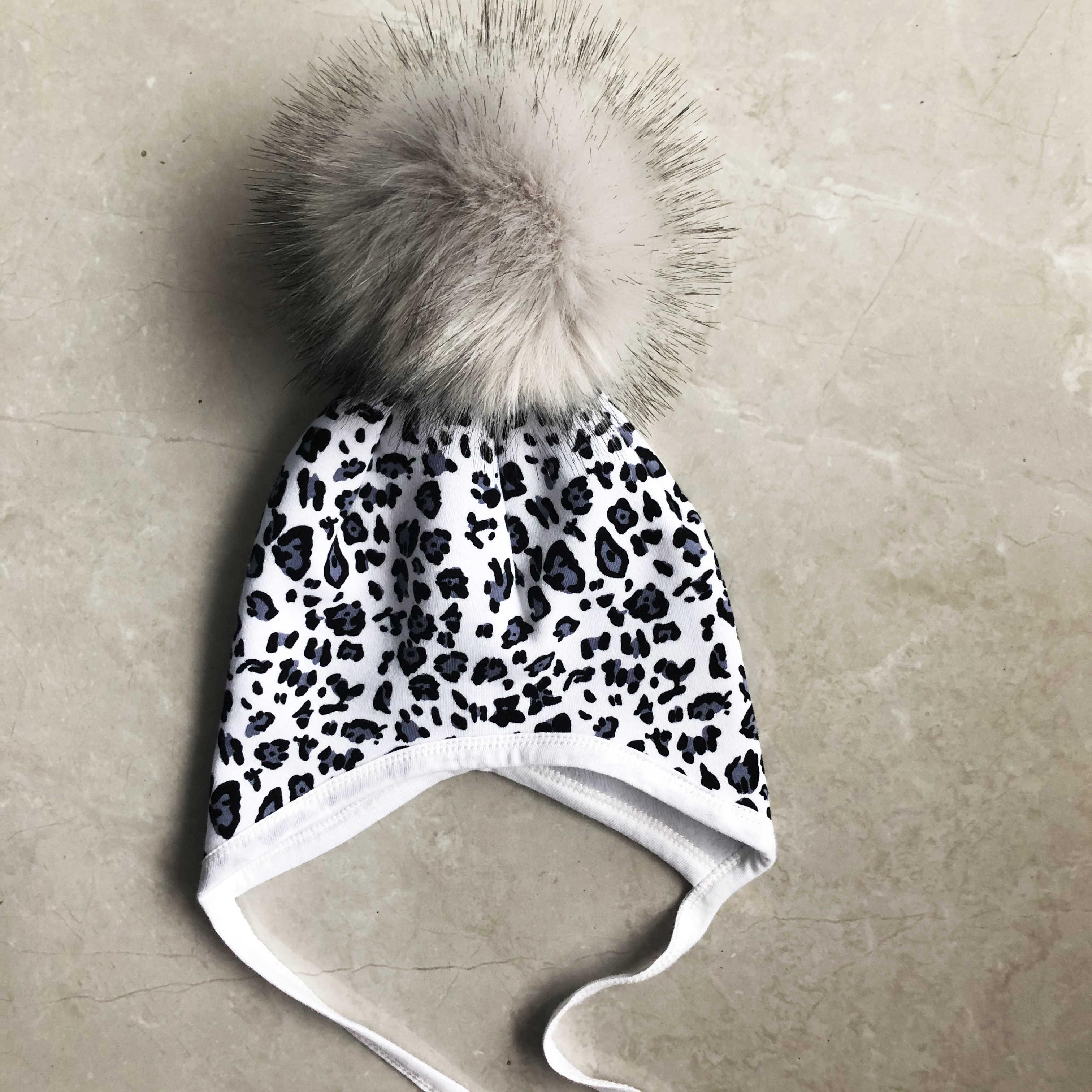 Gorro para bebé de algodón gorro protector de oído para infantes niñas invierno niños sombrero pompón accesorios para niños
