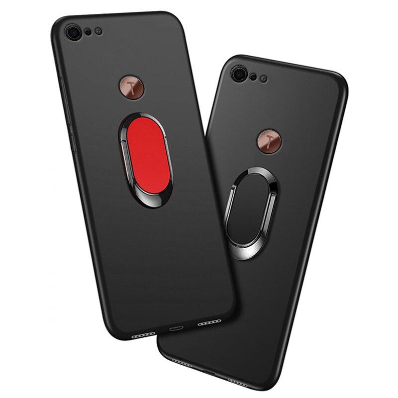 Чехол для Smartisan Nut Pro 2, роскошный мягкий черный пластиковый чехол 5,99 дюйма с металлическим кольцом на палец, чехлы для Smartisan U3 Pro