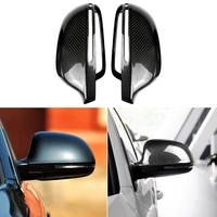 Carbon Fiber Side Rear View Mirror Cover for Audi A3 Q3 RS3 A4L A5 A6L RS6 A8L S8|Mirror & Covers| |  -