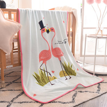 Baby Blanket Infant Bebe  Flannel Swaddle Envelope Stroller Cartoon Blankets Bedding Receiving Wraps Kids