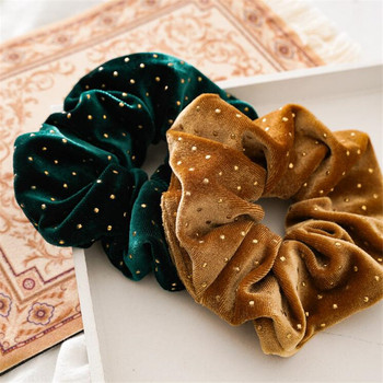 Shiny Velvet Hair Scrunchies For Women Elastic hair band Rubber Ponytail Holders Ties For Girls Soft Hairband Hair Accessories 50 100 pcs girls candy color nylon hair ties small kids elastic hairband children rubber band ponytail holders hair accessories