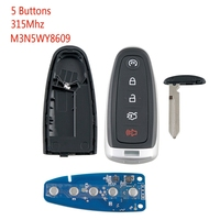 Car Smart Remote Key 5 Buttons Fit For 2011 14 Ford Edge Focus Escape M3N5Wy8609 315Mhz