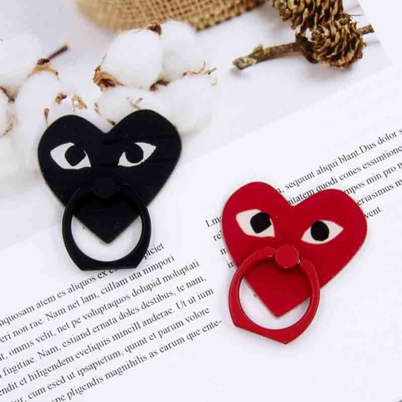 Red Black Loving Heart Universal Mobile Phone Holder Phone Ring Holder Tables Cell Phone Stand Finger Ring Holder For IPhone