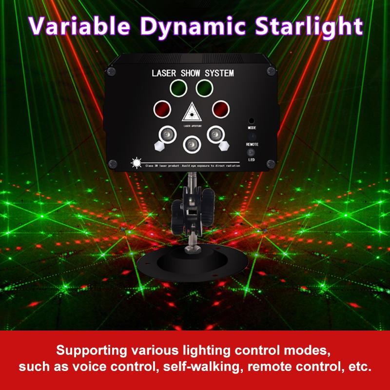 Image 5 - Atotalof RGB LED Disco Light Laser 128 Patterns Projector Remote Control In door Party Lighting KTV Wedding Stage Laser Lights
