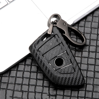 Car Glossy Carbon fiber ABS Key Case for BMW 1 3 5 7 Series X1 X3 X4 X5 X6 M3 M5 F20 F30 F10 E90 E60 E30 E46 E34 E70 Accessories image