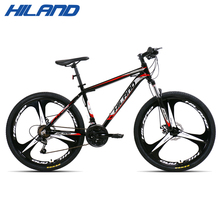 HILAND 26 Inch Steel Frame MTB 21 Speed bicycle Mountain Bike with SAIGUAN Shifter and Double Disc Brake
