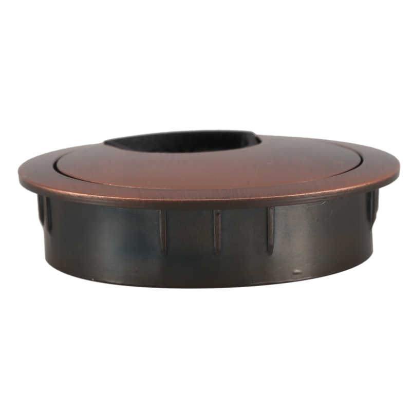 Computer Desk Metal Grommets Wire Cable Hole Round Cover Red-bronze