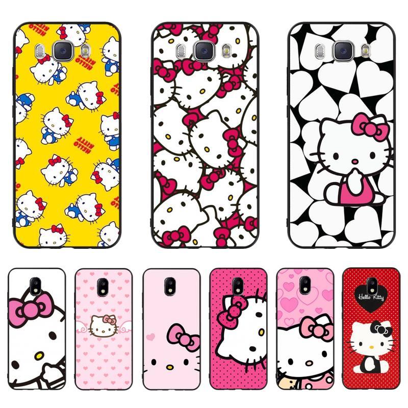 Htxian Cute Kawaii Hello Kitty Tpu Soft Silicone Phone Case Cover For Samsung J7 J8 J6 J4plus J5 J7prime J2 J5prime M10 M20 M30 Phone Case Covers Aliexpress