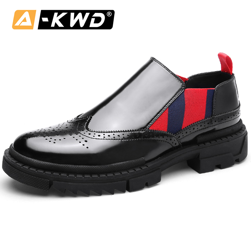 Mirror Upper Oxford Shoes for Men Sapatos Homem New Slip-ons Mens Casual Shoes Hot Sale Fashion 2019 Breathable Luxury Men Shoes