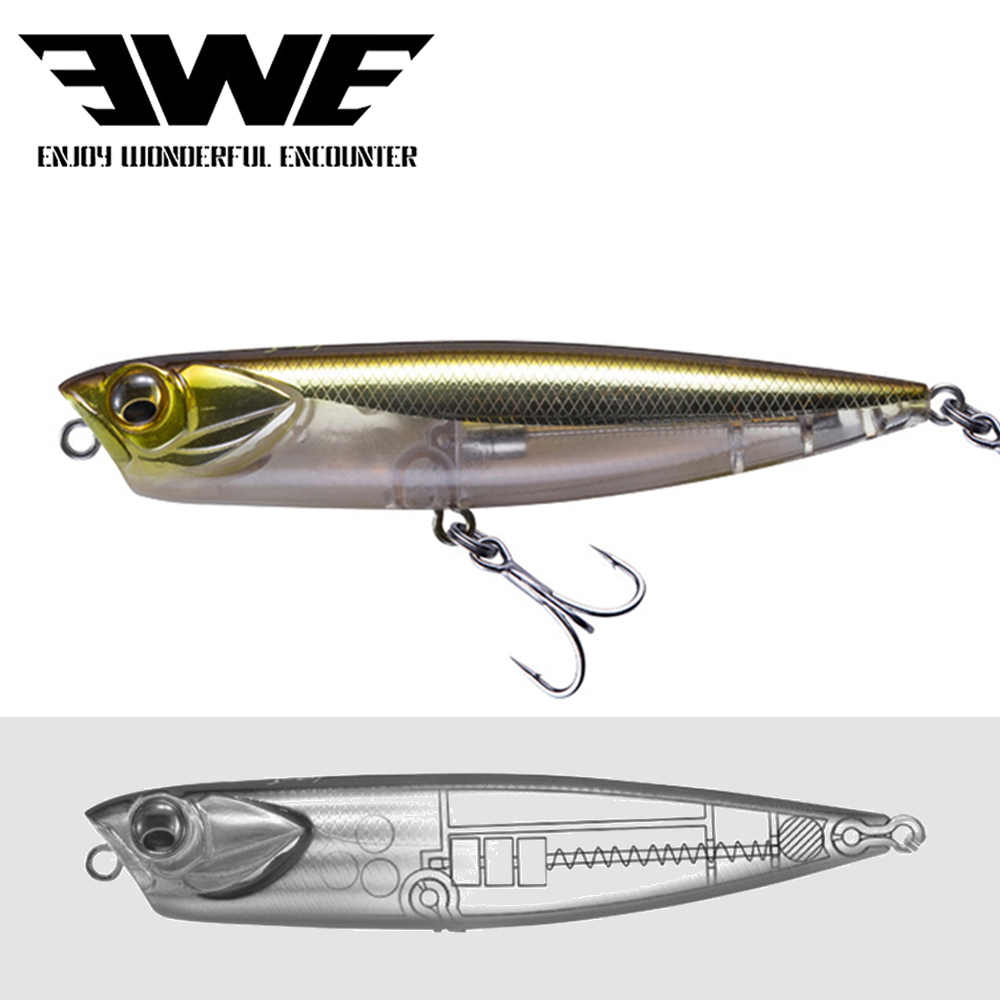 2020 ใหม่EWE AR-C Topwater Pencil Lure 100 มม./85 มม.10G/14GลอยSitckbaitพื้นผิวDOGX Popper Bass Pike Fishing Lure
