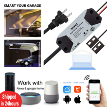 Wofea WiFi Switch Smart Garage Door Opener Controller Work With Alexa Echo Google Home SmartLife Tuya APP Control No Hub Require cheap CN(Origin) WG-088 3-15mm IEEE802 11b g n Only 2 4GHz not support 5G Tuya SmartLife For android IOS with Screws Stickers