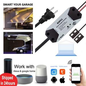 Wofea WiFi Switch Smart Garage Door Opener Controller Work With Alexa Echo Google Home SmartLife/Tuya APP Control No Hub Require(China)