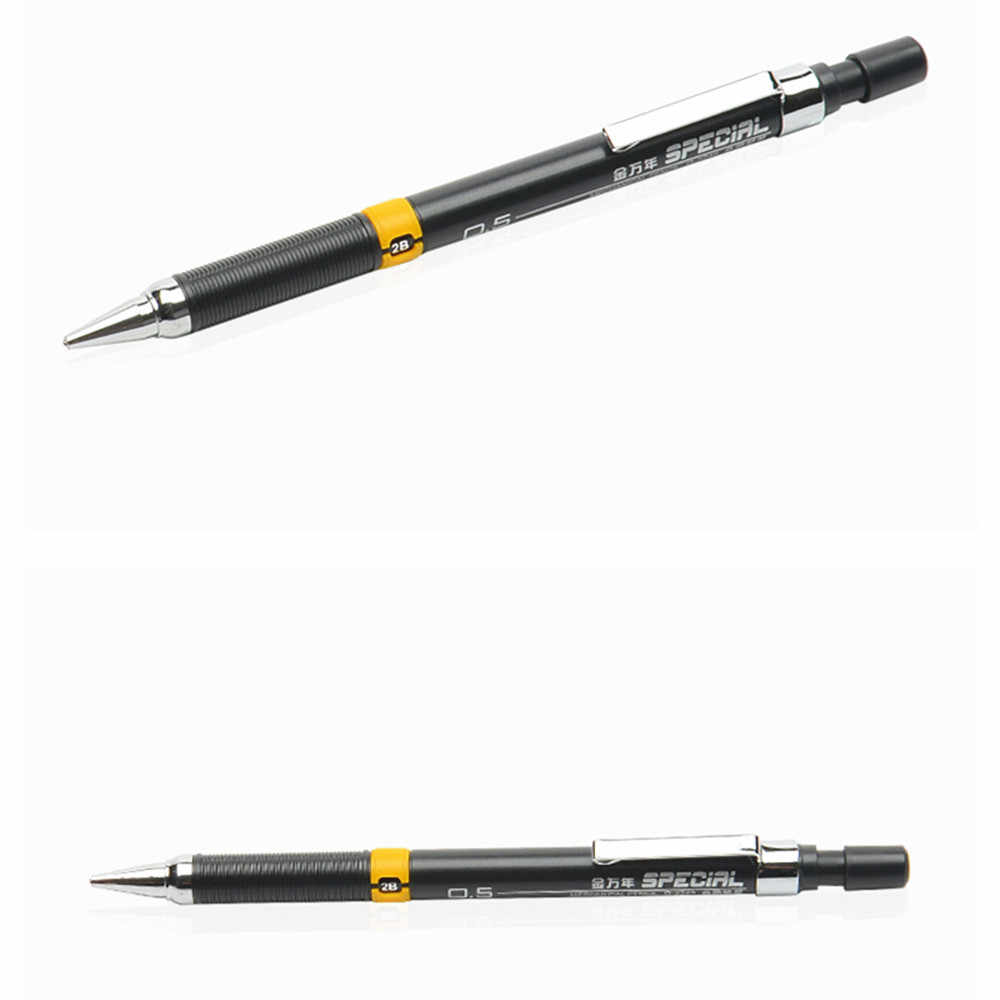 0.5/0.7mm אוטומטי אמנות תלמיד מכאני עיפרון לילדים סקיצה 2B ציור עט ציוד לבית ספר מכתבים