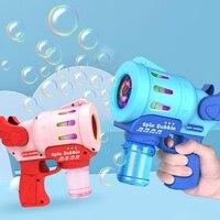 Máquina de burbujas de jabón automática eléctrica para niños, soplador de burbujas para exteriores, juguetes saludables, pistola de juguete para fiesta