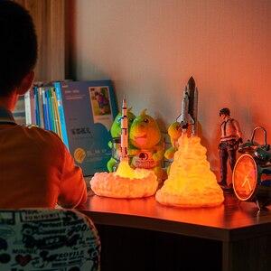 Image 5 - Lampe imprimée en 3D pour la navette, Rechargeable, luminaire décoratif dintérieur, luminaire décoratif dintérieur, idéal pour les amoureux de lespace, nouveau modèle de 2019, livraison directe