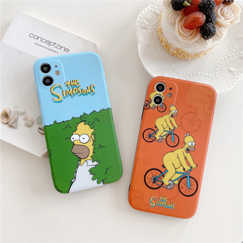 Funny Homer J. Simpson father Phone Case For iPhone 12 11 Pro 7 8 Plus X XR XS MAX SE2  1