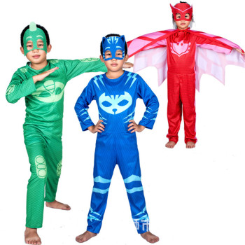 PJ Masks Toys set Children Christmas Halloween Cosplay Costume Pj Mask Catboy Gekko Owlette Birthday Party Clothes Kids Gifts cosplay adults and kids super mario bros cosplay dance costume set children halloween party mario