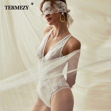 TERMEZY Womens Sexy Corset and Bustier Lace Underwear Floral Embroidery Dress Black White Green Breathable Lingerie