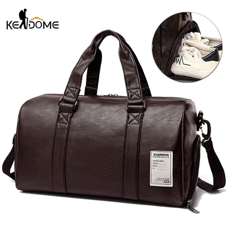 PU Leather Gym Bag Fitness Travel Handbag Dry Wet For Women Men Training Sack Shoulder Tote Sac De Sport Gymtas Outdoor XA170-1D