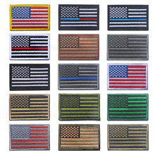 Bendera Amerika Bordir Patch Bordir Badge Patch Militer Taktis Pakaian Lencana US Flag Bintang dan Strip Ban Lengan(China)