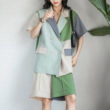 Летний женский комплект из 2 предметов Свободные корейские блейзеры