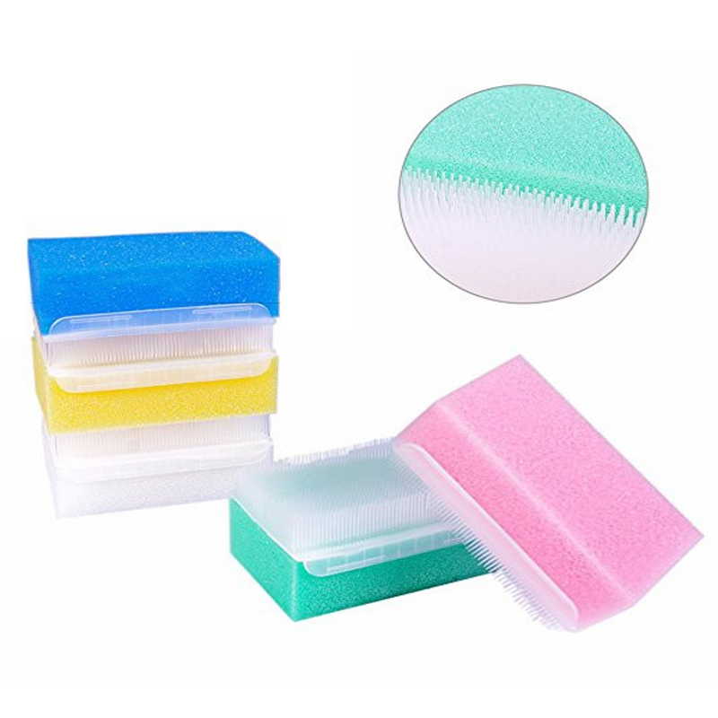 5pcs Baby bath brush Baby sponge brush surgical hands denture Sterile infant Children Sensory Sponge Scrub Bristle Brush