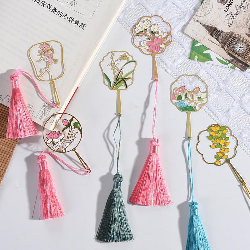 Chinese Style Group Fan Bookmark