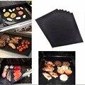 Тефлоновая антипригарная многоразовая подстилка для барбекю и гриля лист выпечки коврик для лист для барбекю приготовления пищи открытый ...
