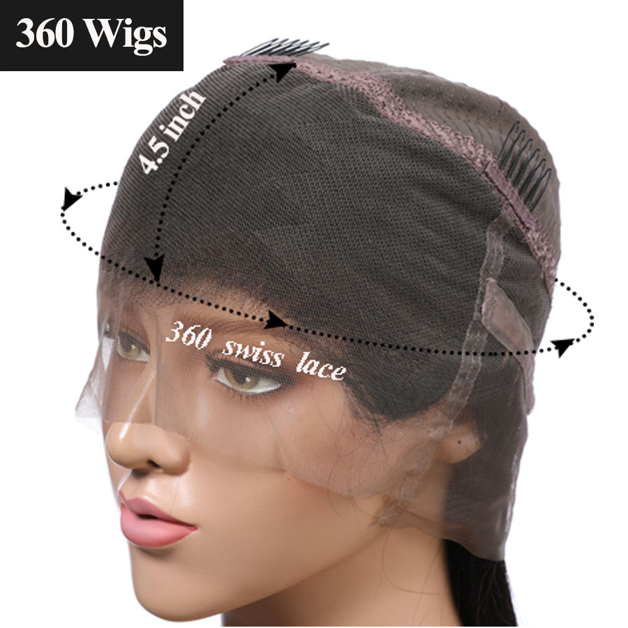 Venice Hair 360 Lace Frontal Wigs For Black Women Curly Short Human Hair 4.5 inch Lace Wig With Baby Hair Pre Plucked Remy Hair