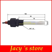Sensor de electrodo EC TDS, sensor de conductividad de electrodos, medidor de conductividad negro Platino, compensación de temperatura