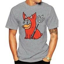 2020 lazer moda 100% algodão o-pescoço t-shirts masculino miniatura pinscher assessador diabo traje h