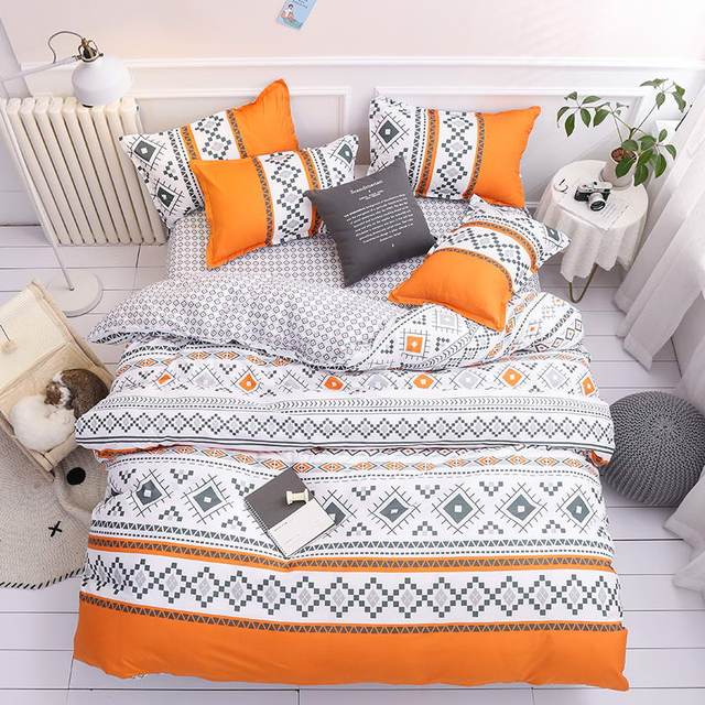 Arwen Bedding Set Orange Tribal