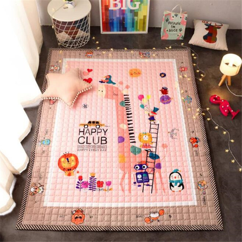 Baby Play Mat Children Mat Kids Cotton Crawling Pad Non-slip Washable Carpet Developing Rug Soft Floor Toddler Game Blanket Toys