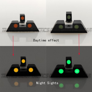 Image 5 - Hunting Pistol Handgun Glow in the Dark Night Sights Front and Rear Sight Set For Glock 17, 19, 22, 23, 24, 27, 33, 34, 35