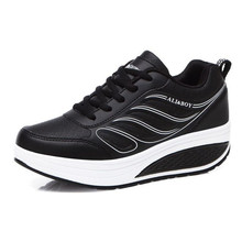 Women's Sneakers Platform Wedge Light Weight zapatillas Running Shoes For Woman Swing Shoes Breathable Sports Slimming Air cushi 4 5 cm height toning shoes for women fitness walking slimming workout sneakers wedge platform air swing shoes for female