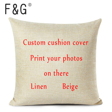 Pillowcases Cushion-Cover Picture-Printed Personal Pet Custom Life-Photos Various-Sizes