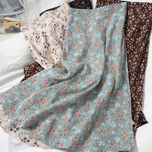 2021 Summer Floral Chiffon Y2k Skirt for Women Lady  Empire Street Wear Style Loose Skirt with Elastic Band