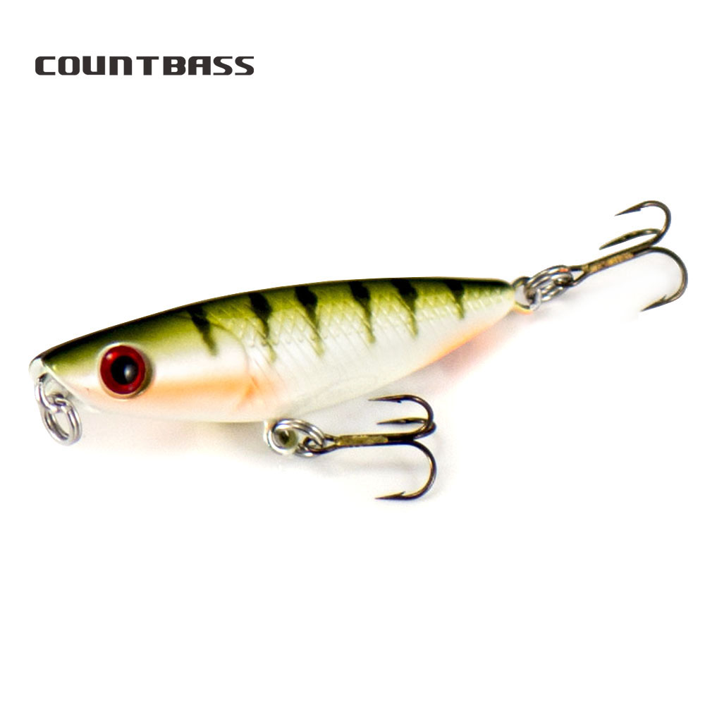 1pc Countbass Small Size Topwater 43mm 2g Wobbler Fishing Lures Rigged VMC hook, Micro Bass Pike Trout Fishing Popper Mini Plu|Fishing Lures| - AliExpress