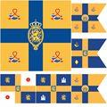 Флаг Нидерландов Королевского стандарта флаг других членов семьи 4x4 фута 120x120 см 100D полиэстер высококачественный двухстроченный баннер