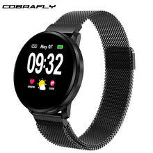 Cobrafly CF68 Women Smart Watch Full Touch Screen IP67 Waterproof Heart Rate Blood Pressure Fitness Tracker Sport Men Smartwatch