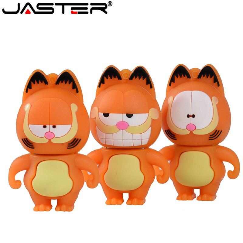 JASTER 64GB 3 Model Mini Cute Garfield Model Usb Flash Drive 4GB 8GB 16GB 32GB Pendrive Usb 2.0 Cute Gift