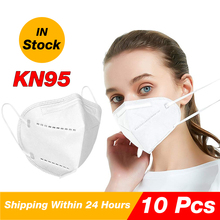 10 Pcs KN95 Face Masks anti virus with 6 layers protection mouth safty masks with Professional certification N95 masks