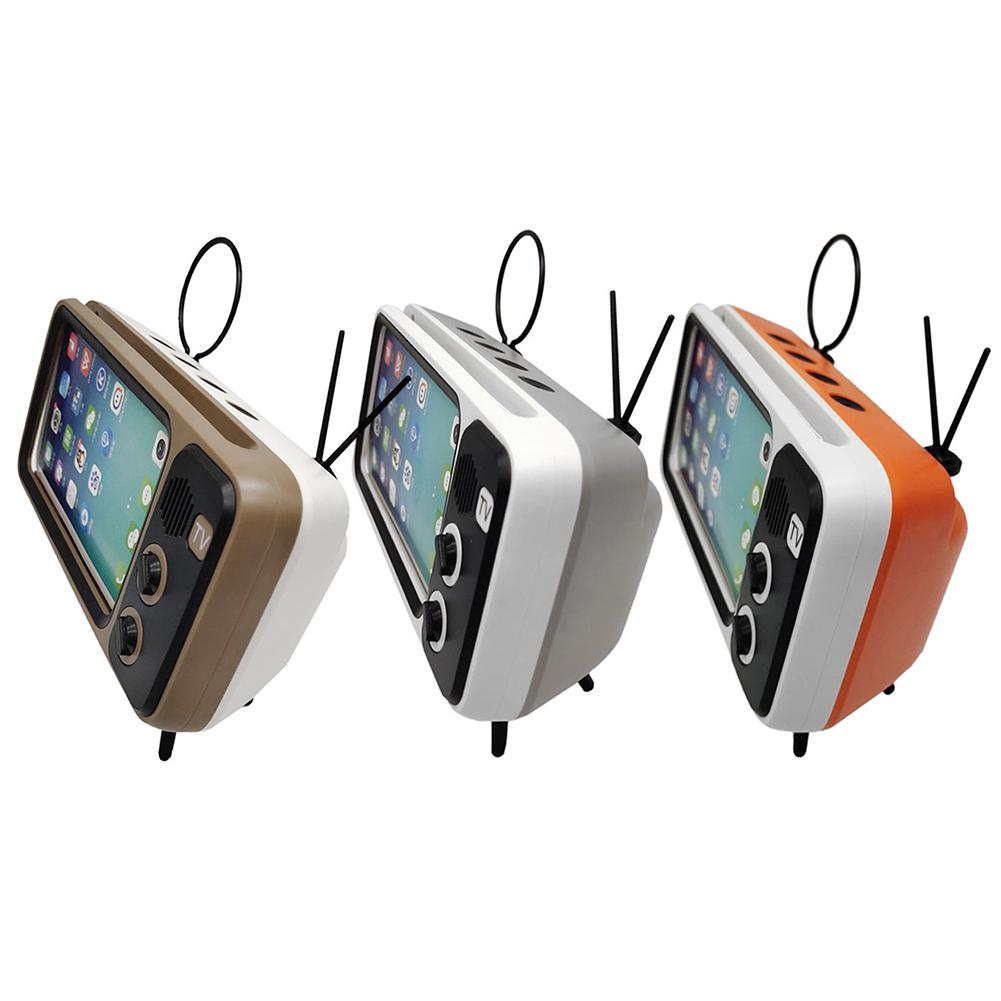 Retro TV Mobile Phone Holder General Table Mobile Phone Stand For Home Without Bluetooth Speaker PC Material Stable Structure