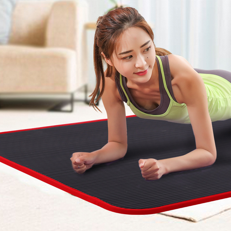 10MM Extra Thick 183cmX61cm High Quality NBR Non-slip Yoga Mats For Fitness Tasteless Pilates Gym Exercise Pads With Bandages