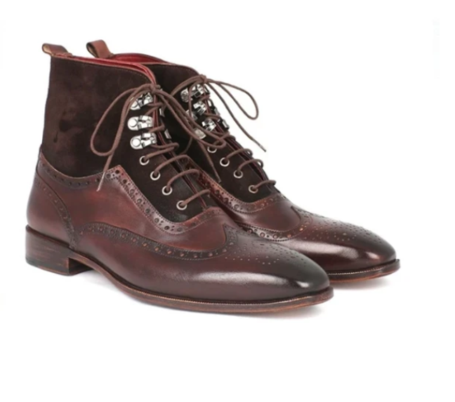 Men Leather Shoes High Heel Casual Oxford Shoes Dress Shoes Brogue Shoes Winter Ankle Boots Vintage Classic Male Casual  D364