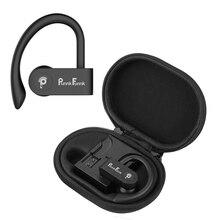 スポーツ真ワイヤレスイヤフォンtwsワイヤレスイヤホンbluetooth 5.0 ワイヤレスヘッドホン低音ステレオフック耳ヘッドセットw/充電ボックス