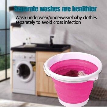 Lavadora plegable de la bañera del lavadero portátil USB Mini lavadora automática del cubo de lavado de la ropa 5V